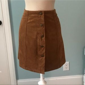 Caramel Soft Mini Skirt